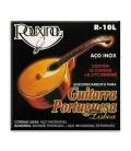 Jogo de Cordas Rouxinol R10L Guitarra Portuguesa Lisboa Aço Inox