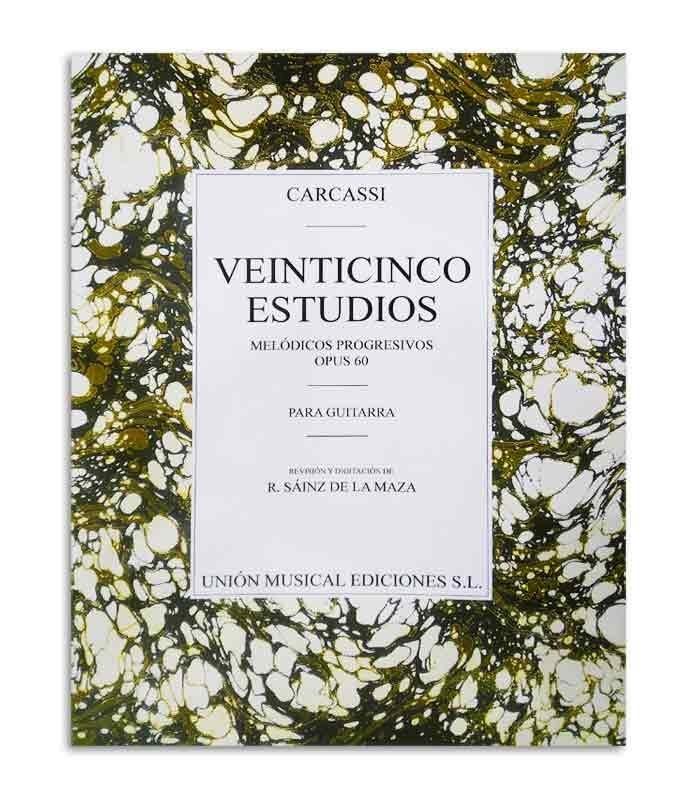 Libro Carcassi 25 Estudos Melódicos Progresivos para Guitarra Op 60 UMG20151
