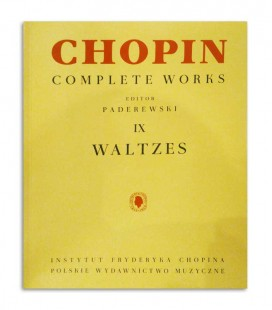 Contraportada del libro Chopin Waltzes Paderewski