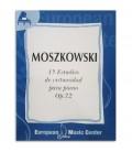 Livro Moszkowski 15 Estudos Virtuosos para Piano Opus 72 EMC341225