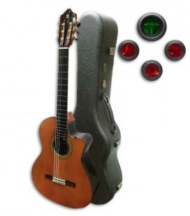 Guitarra Cl叩ssica Alhambra 9P CW E8 Equalizador Cedro Pau Santo com Estojo