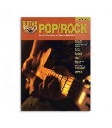 Libro Music Sales HLE90002594 Play along guitar pop rock volume 4