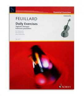 Livro Feuillard Exercicios Diários para Violoncelo ED1117