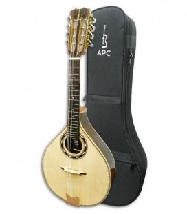 Foto de la mandolina APC MDL310 y del estuche