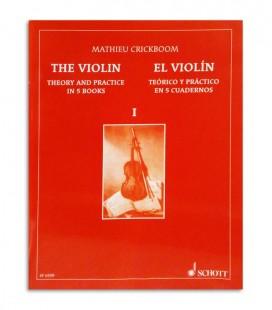 Contracapa do livro Mathieu Crickboom Violino Teórico e Prático Vol 1