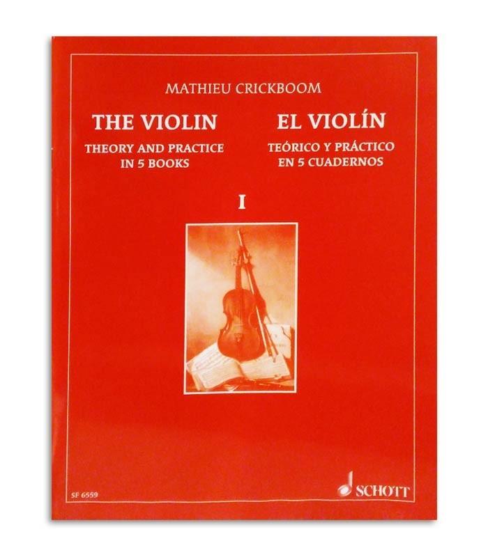 Capa do livro Mathieu Crickboom Violino Teórico e Prático Vol 1