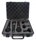 Pack de 3 Microfones Proel Dinâmico DM800 Kit