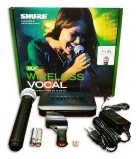Microfone Shure Sistema sem Fios de Mão BLX24E PG58H8E