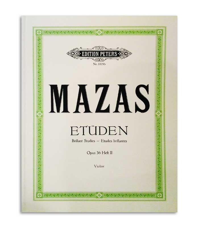 Livro Peters Mazas para Violino Opus 36