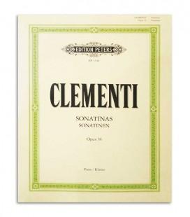 Livro Peters Clementi Sonatinas Opus 36 EP3346