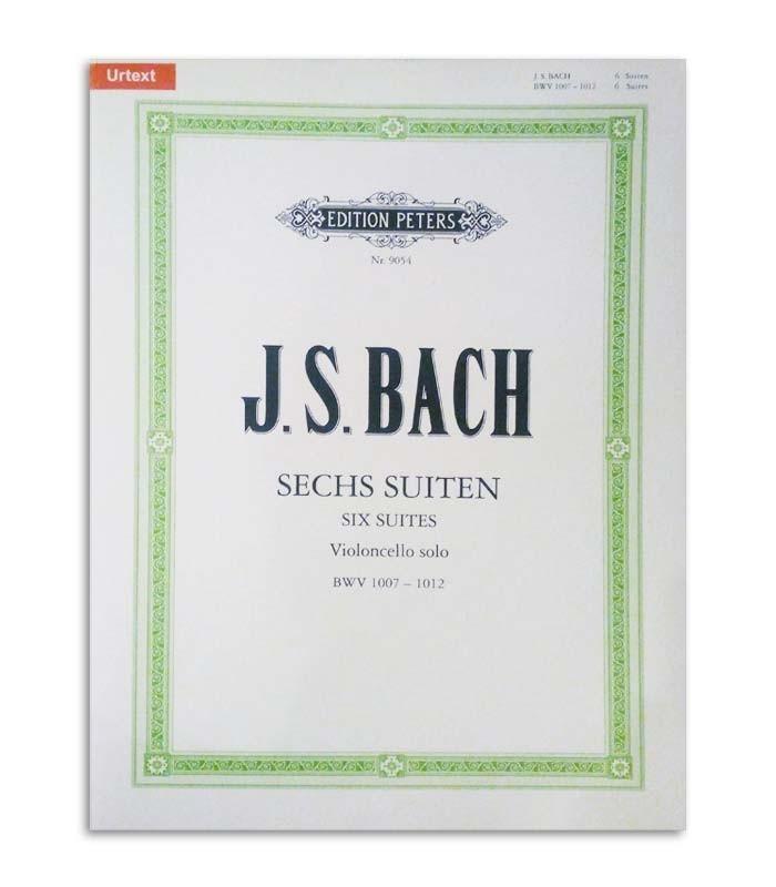 Livro Peters Bach 6 Suites para Violoncelo BWV 1007 1012 EP9054