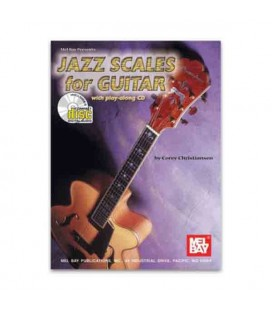 Livro Music Sales MLB98921BDC Jazz Scales Guitar Book CD