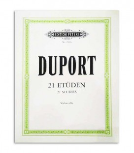 Duport 21 Etüden for Cello Peters