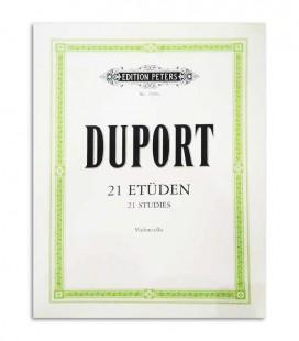 Libro Peters Duport 21 Estudos para Violonchelo EP2508a