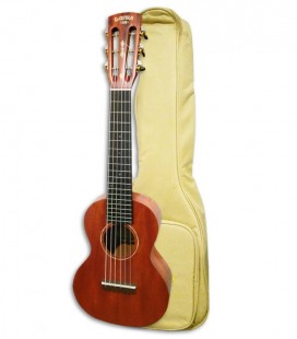 Foto do guitalele Gretsch G9126 com o saco