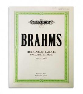 Libro Peters Brahms 3 Danças Húngaras EP7401