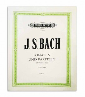 Libro Peters Bach Sonatas y Partitas para Violín BWV 1001 1006 EP4308
