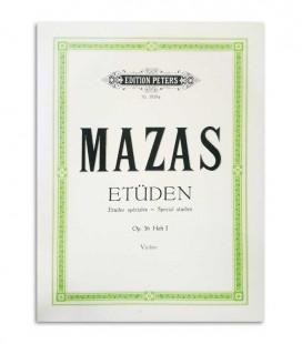 Libro Peters Mazas para Violin Opus 36  Vol 1 EP1819a
