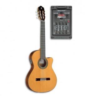 Alhambra 5P CT E2 Guitarra Clássica Equalizador Estreita Cedro Pau Santo