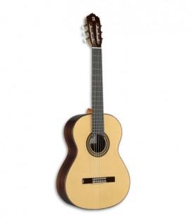 A Alhambra 7PA é uma guitarra clássica de grande qualidade construída à mão. Tamanho Concerto.