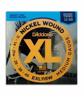 Juego de Cuerdas Daddário EXL115W 011 049 para Guitarra Eléctrica
