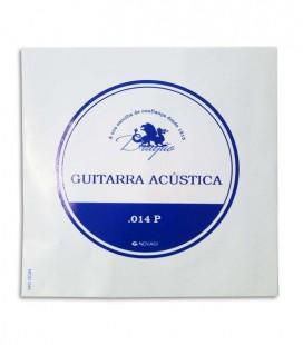 Cuerda Individual Dragão Viola Superior Acero Inox 014 2a Si Botón