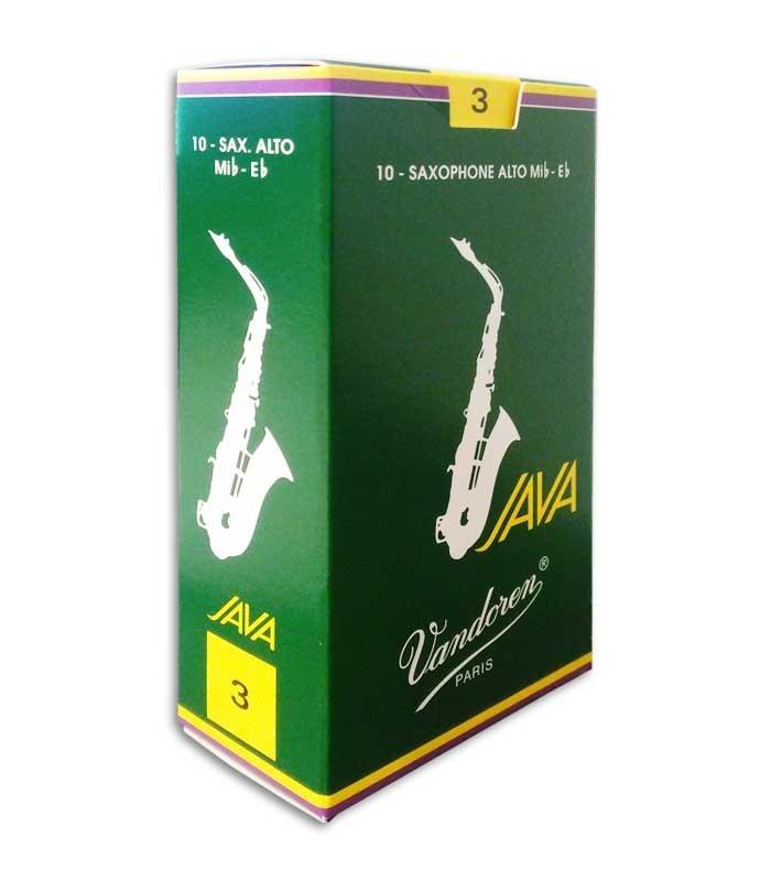 Palheta Vandoren SR263 Java No 3 para Saxofone Alto