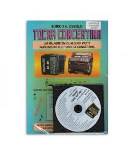 Livro Eurico Cebolo Método Mágico Tocar Concertina 1 com CD