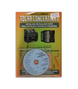 Livro Eurico Cebolo Método Mágico Tocar Concertina 2 com CD