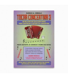 Eurico Cebolo ACM 1 Método Mágico Tocar Concertina 3 com CD KIT