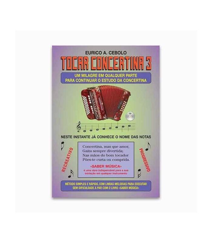 Livro Eurico Cebolo ACM 1 Método Mágico Tocar Concertina 3 com CD KIT