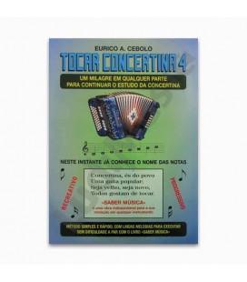 Livro Eurico Cebolo T Concertina 4 Método Mágico Tocar Concertina 4 com CD