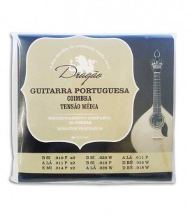 Jogo de Cordas Dragão 005 Guitarra Portuguesa Afinação Coimbra Tensão Média