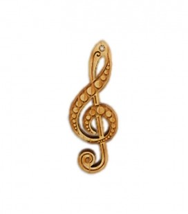Portwood Key Chain PC033 Treble Clef