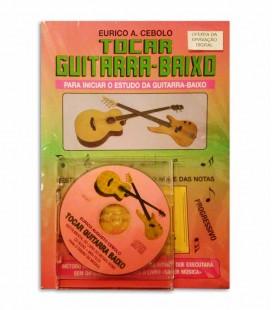 Livro Eurico Cebolo Método Tocar Guitarra Baixo com CD