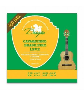 Juego de Cuerdas Dragão 083 para Cavaquinho Brasilero Leve Acero Inox