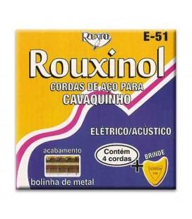 Juego de Cuerdas Rouxinol E51 para Cavaquinho Brasileño