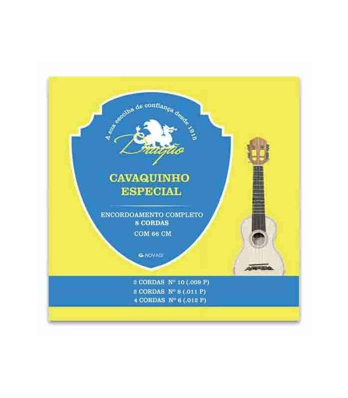 Jogo de Cordas Dragão 063 para Cavaquinho Especial 8 Cordas
