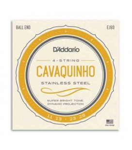 Juego de Cuerdas Daddário EJ93 para Cavaquinho Brasileño