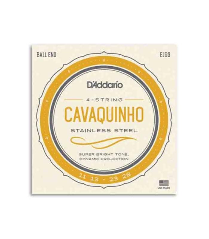 Jogo de Cordas Daddário EJ93 para Cavaquinho Brasileiro