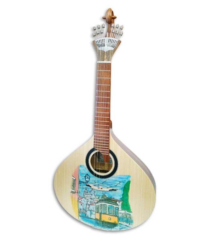 Guitarra Portuguesa APC GFHPLS Abeto Caoba Pintada a Mano
