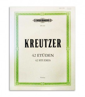 Libro Edition Peters EP4310 Kreutzer 42 Estudios para Violin
