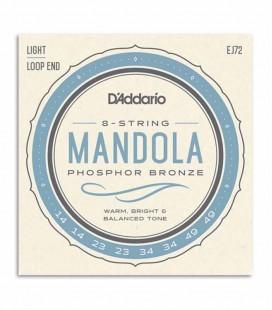 String Set Daddario EJ72 para Bandola 014 049