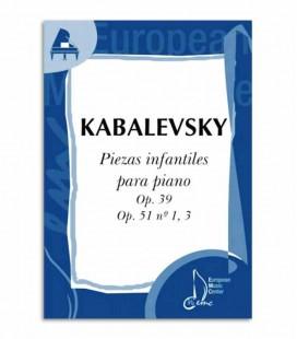 Libro Kabalevsky Piezas Infantiles para Piano Op 39 51 EMC341243