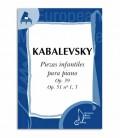 Livro Kabalevsky Peças Infantis para Piano Op 39 51 EMC341243