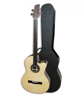 Acoustic Bass Guitar Deluxe Artimúsica 33133 instrument and case