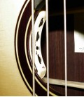 Acoustic Bass Guitar Deluxe Artimúsica 33133 bass soundhole with preamp image