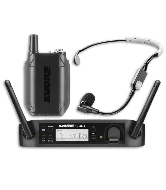 Microfone Shure Sistema sem Fios de Mão GLXD14E SM35 Z2
