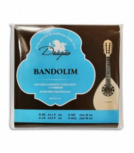 Dragão 8 Strings Mandolin String Set 019 with Tie