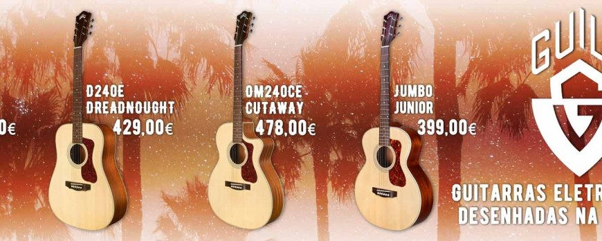 Guitarras Guild de todas as formas e feitios
